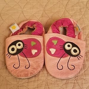 Mini star leather moccasin shoes